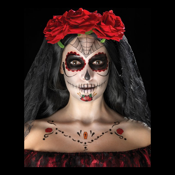 Day of the Dead Ansiktstatueringar
